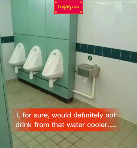 weird mens toilet water cooler